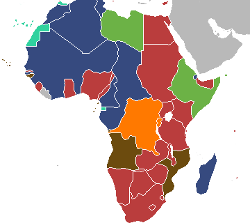 Map of Africa Colonisation Decolonise Decolonisation