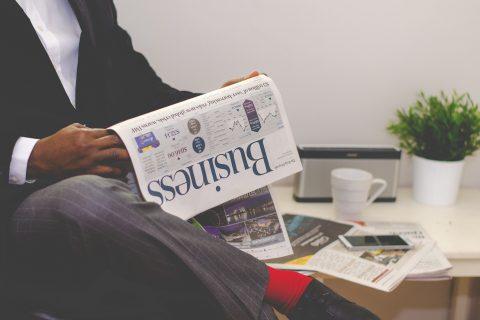 Stratcom Business Man Reading Newspaper Independent Iqbal Surve