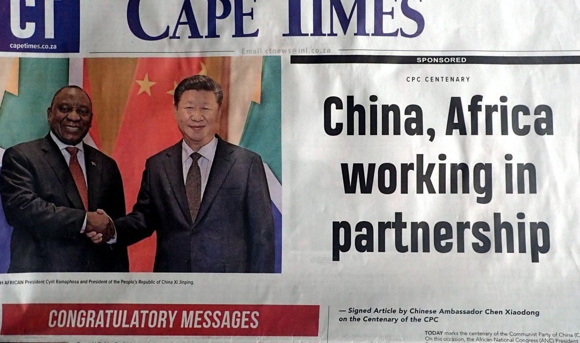Cape Times China Africa Newspaper Media Freedom