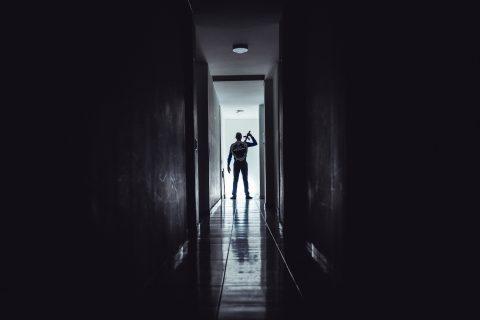 muths of liberalism shield sword dark hallway Luis Alberto Cardenas Otaya Pexels